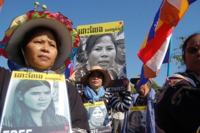Cambodia: Free Activists and Monk Jailed for Boeung KakProtest